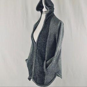 Anthropologie Sparrow Knit Double Zip Hoodie Sz M